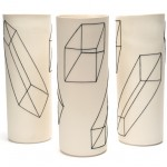 Geometric Porcelain Cylinders