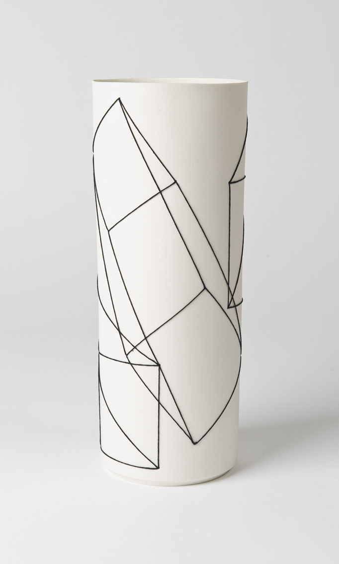 Overlapping Geometric Motif Cylinder