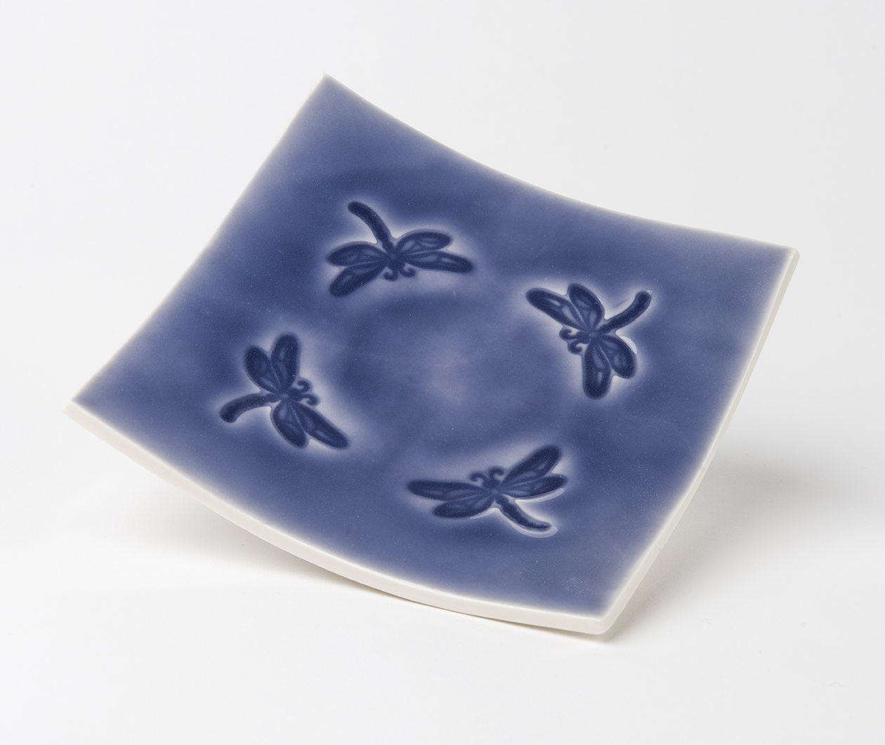 Embossed Porcelain Dish 18 cm square